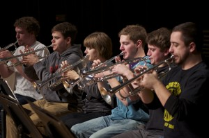 GWO Trumpet Section in Sectional Rehearsal