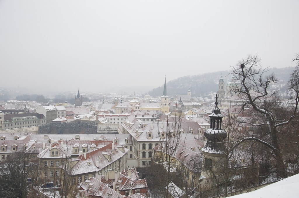 Prague from St. Vitus Cathedral Hill