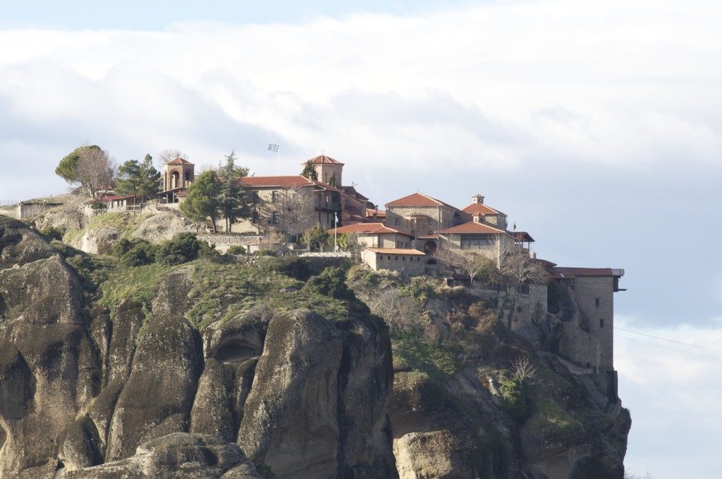 "One of six ""lofted monasteries"" at Meteora, Greece (giving new meaning to heavenly splendor)"