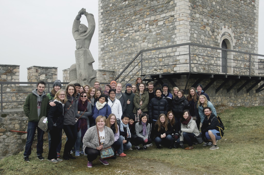 Bus 2 at the Medieval Kale Fortress in Skopje, Macedonia