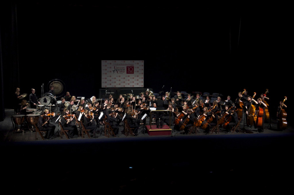Gustavus Symphony in concert at Skopje Opera House, Skopje, Macedonia