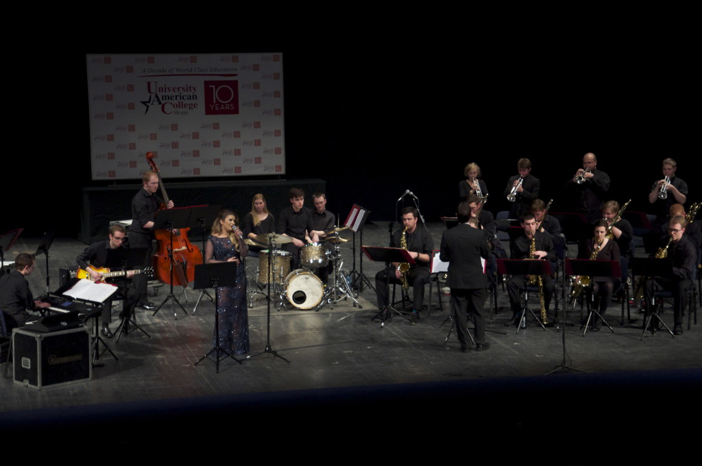 Gustavus Jazz with Macedonia Jazz Singer Laura Krliu, Skopje Opera House, Skopje, Macedonia